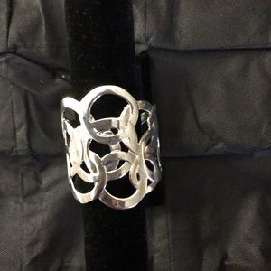 Bracelet Cuff White Gold Plated